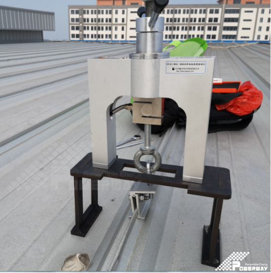 Pull out test of Colored Steel sheet rooftop
